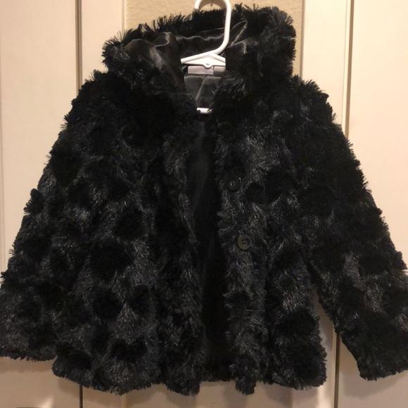2bf4e7f4d kids r us Jackets & Coats | Black Faux Fur Coat With Hood | Poshmark